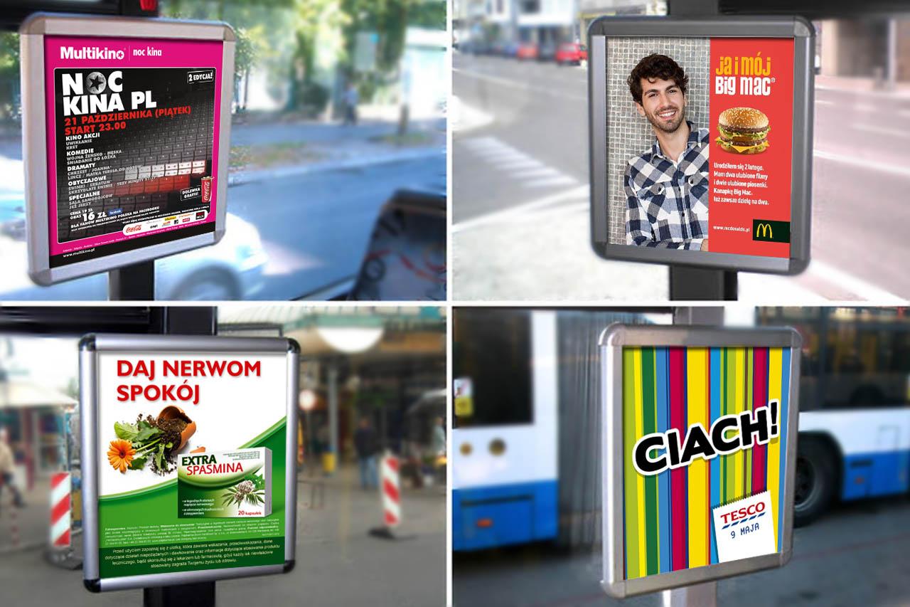 Plakaty w autobusach trolejbusach w Gdyni