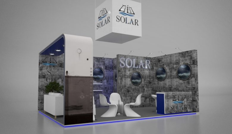 Solar Shipping stand 2018